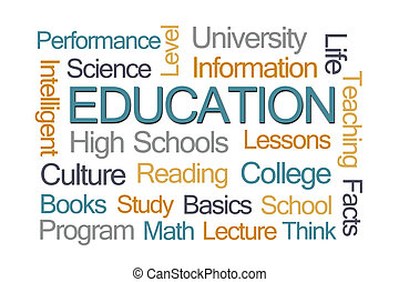 nuage, mot, education