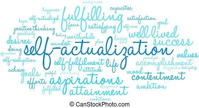 nuage, mot, self-actualization