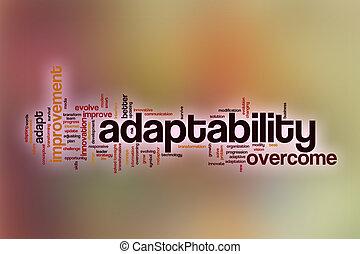 nuage, résumé, mot, fond, adaptability