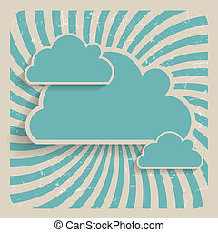 nuage, résumé, vecteur, fond, illustration