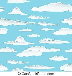 nuage, seamless, fond
