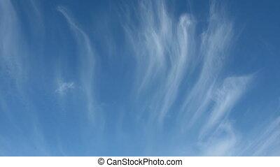 nuages, bandes, ciel