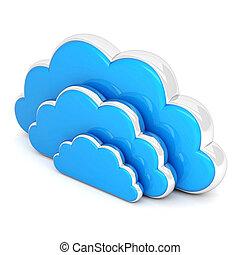 nuages blancs, 3d