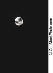 nuages, ciel, entiers, devant, il, lune, sombre, nuit