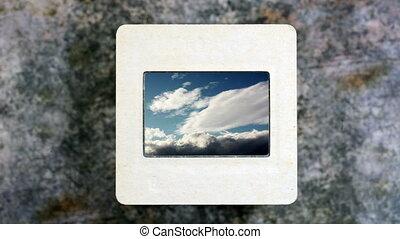 nuages, défaillance, ciel, diapo, temps, pellicule