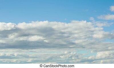 nuages, défaillance, en mouvement, temps
