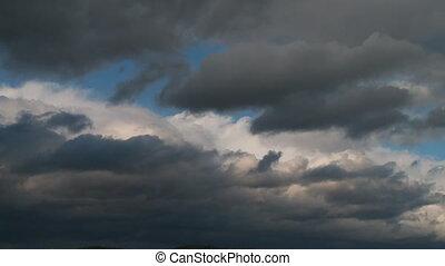 nuages, défaillance, jeûne, en mouvement, orage, temps