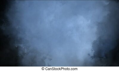 nuages, en mouvement, brouillard, lentement, &