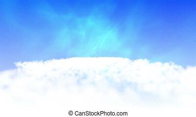 nuages, lent, vidéos, mouvement