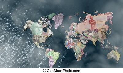 nuages, mondiale, amérique, financier