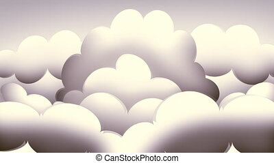 nuages, retro, loopable