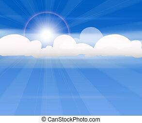 nuages, soleil