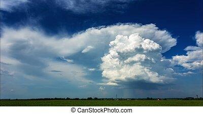 nuages, vidéo, orage, cumulonimbus, 4k-timelapse