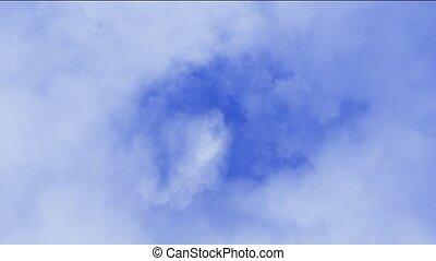 nuages, voler, lentement, sky.
