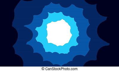 nuageux, trou, dessin animé, fumée, frame., comique, bleu, bouffée