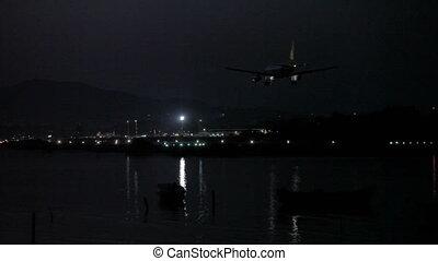 nuit, aéroport, vie