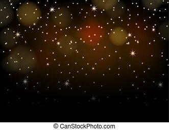 nuit, clair, fond, étoiles