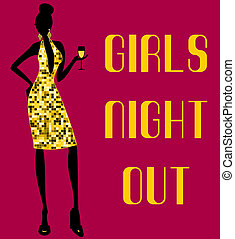 nuit, filles, dehors