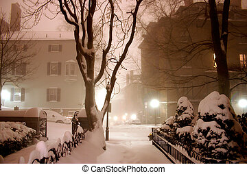 nuit, hiver