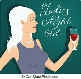 nuit, ladies', dehors
