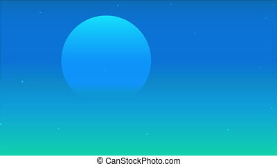 nuit, lune bleue, translucide, ciel