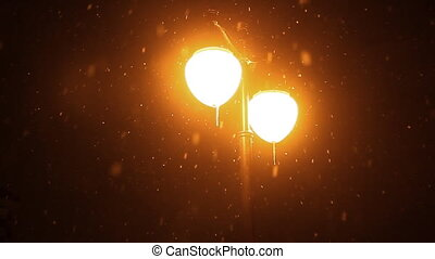 nuit, neiger, hiver