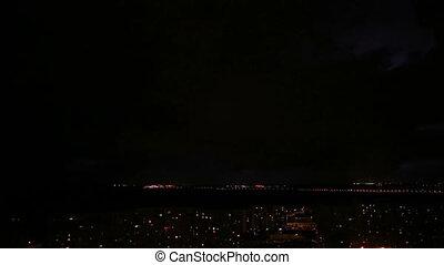 nuit, orage, éclair
