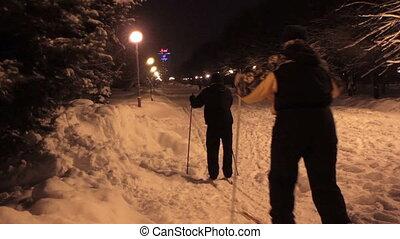 nuit, parc, ski, transnational
