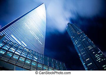 nuit, shanghai, vue