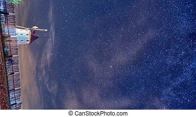 nuit, timelapse, étoiles, ciel