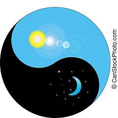 nuit, yin, jour, yang