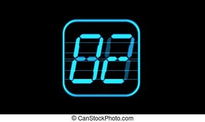 numérique, bleu, boucle, seamless, temps