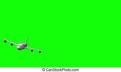 numérique, bourdonner, blanc, passé, avion