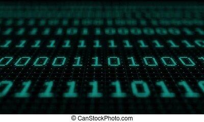 numérique, code, arrière-plan., programming., vert, futuriste, cryptocurrency, developer., concept, exploitation minière, cyberspace., code., coding., binaire, bitcoin., informatique, toile, résumé