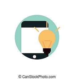 numérique, commercialisation, idée, créativité, smartphone