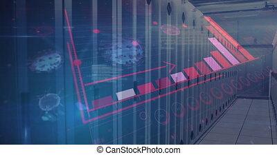 numérique, coronavirus, interface, contre, salle serveur