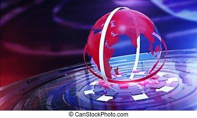 numérique, faites correspondre arrière plan, mondiale, nouvelles