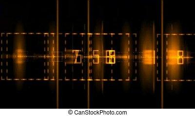 numérique, finance, arrière-plan noir, matrice, doré, utilisé, fond