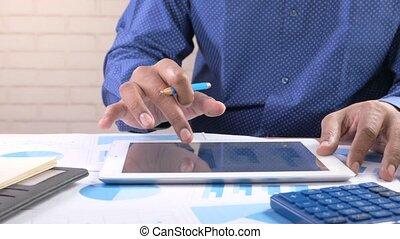 numérique, jeune, utilisation, homme, tablette