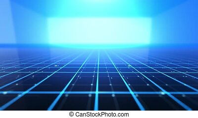numérique, lignes, technologie, fond, -, grille