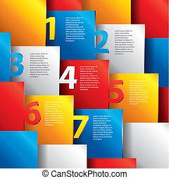 numéroté, infographics, options, vecteur, gabarit