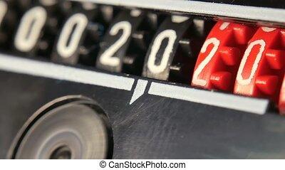 numbers., 2018-2024, timer., compteur, année, compte rebours, ensemble, numérique, nouveau