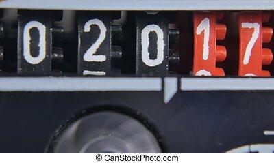 numbers., ensemble, timer., compteur, compte rebours, 2018, année, nouveau, 2017, numérique