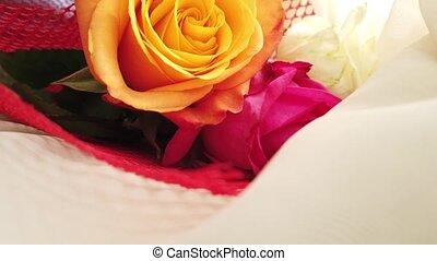 nuptial, rose, grand plan, roses, orange, bouquet