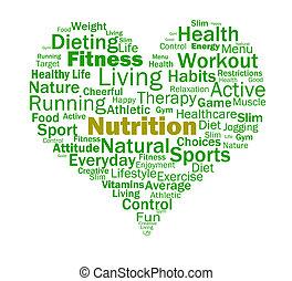 nutrition, coeur, sain, aliments, alimentaire, nourriture, spectacles