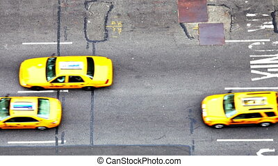 nyc, gens, scène, rue, trafic, amérique, manhattan