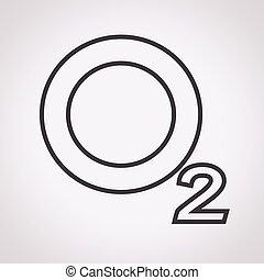 o2, oxygène, icône