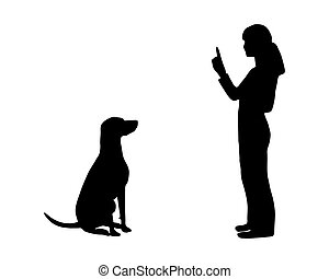 (obedience):, formation, command:, chien, asseoir
