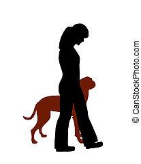 (obedience):, formation, commande, chien, talon