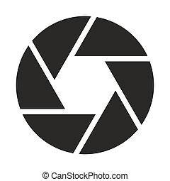 objectif, appareil photo, (symbol), icône